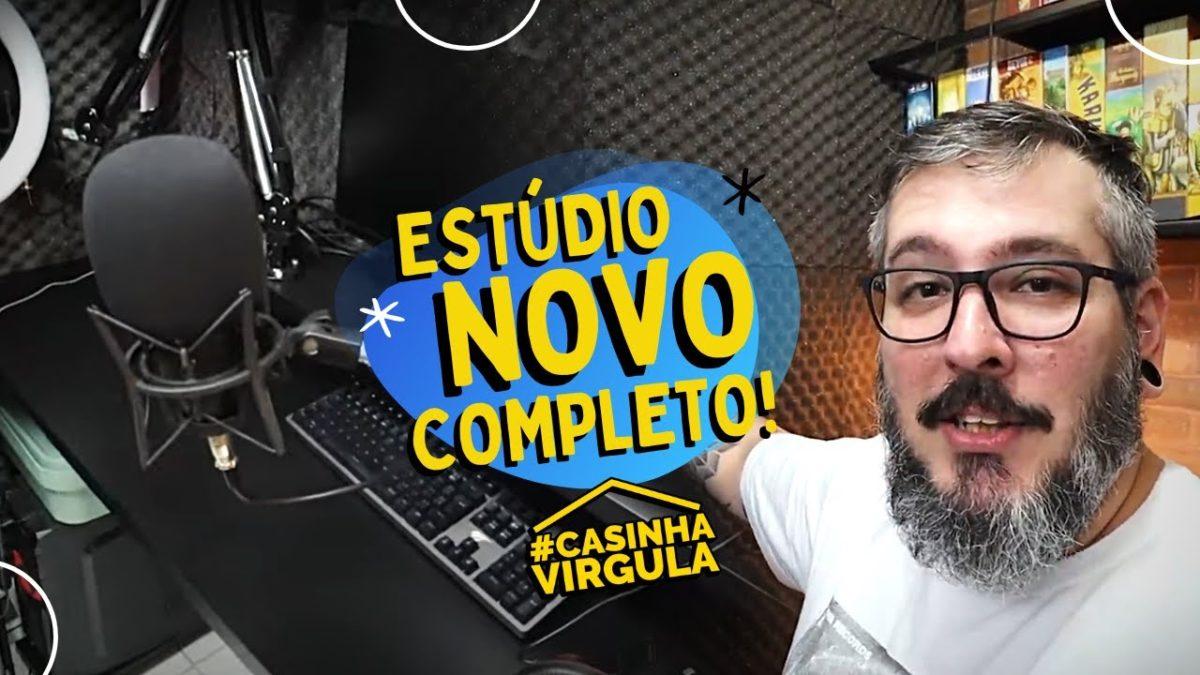 Tour pelo Estúdio Novo | Casinha Vírgula!